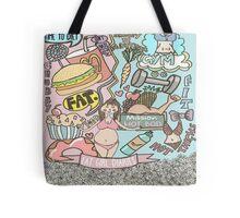 Fat Girl Diaries Doodle Tote Bag