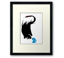 Dragon and alien Framed Print