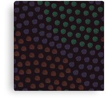 Orange, violet and green polka-dot Canvas Print