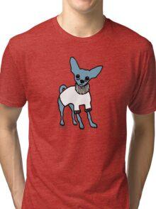 Wildago's Blue Chihuahua Tri-blend T-Shirt