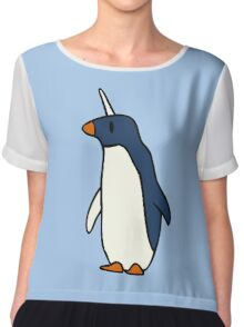Penguicorn (Penguin Unicorn) Chiffon Top