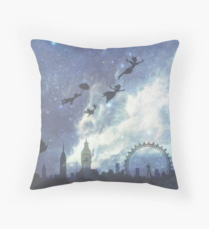 Welcome to Neverland- version 2 Throw Pillow