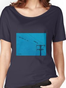 Birds Wires 15  Women's Relaxed Fit T-Shirt