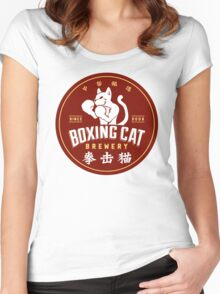 Boxing Cat Brewery Chinese Beer Women's Fitted Scoop T-Shirt