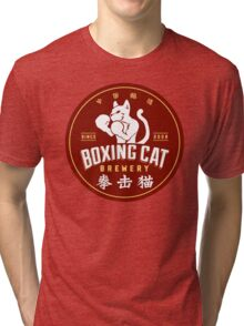 Boxing Cat Brewery Chinese Beer Tri-blend T-Shirt