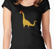 Roller Derby Brachiosaurus Women's Fitted Scoop T-Shirt