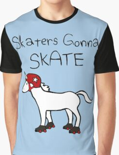 Skaters Gonna Skate (Unicorn Roller Derby) Graphic T-Shirt