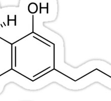 THC Tetrahydrocannabinol Chemical Formula Compound  Sticker