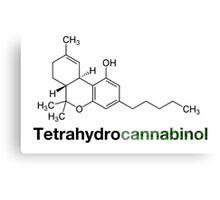 THC Tetrahydrocannabinol Chemical Formula Compound  Canvas Print