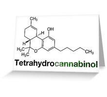 THC Tetrahydrocannabinol Chemical Formula Compound  Greeting Card