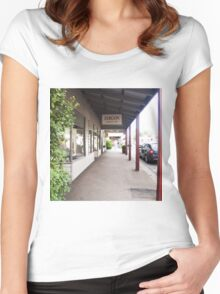 Streetscape Trentham VIC Austraia Women's Fitted Scoop T-Shirt