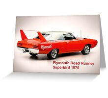 Plymouth Road Runner Superbird 1970 Greeting Card