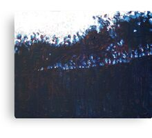Hill, Trees IV Canvas Print