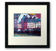 The Long Walk, Boats (Galway) Framed Print