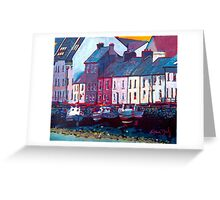 The Long Walk, Boats (Galway) Greeting Card