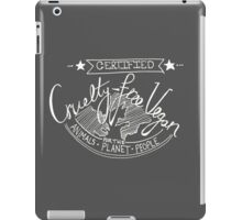 Certified Vegan- inverted colours iPad Case/Skin
