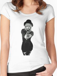 Pew Pew Women's Fitted Scoop T-Shirt