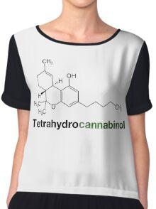 THC Tetrahydrocannabinol Chemical Formula Compound  Chiffon Top
