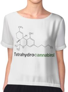 THC Tetrahydrocannabinol Chemical Formula Compound  Chiffon Top