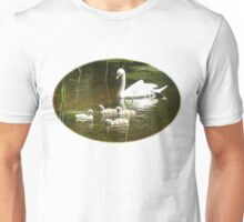 Mother swan and her little ones Unisex T-Shirt