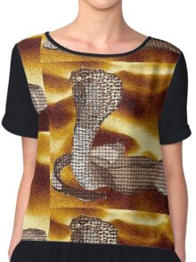 Egyptian Cobra Chiffon Top