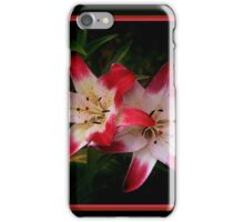 Bright red and white petals iPhone Case/Skin