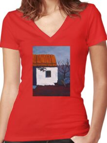 Donegal Cottage II Women's Fitted V-Neck T-Shirt