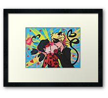 Miraculous Ladybug and Chat Noir Framed Print
