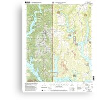USGS TOPO Map Alabama AL Arley 303145 2000 24000 Canvas Print