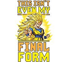 This Isn't Even My Final Form (SSJ3) Photographic Print