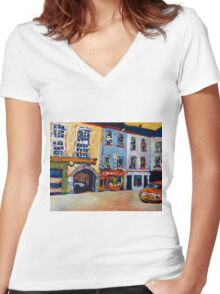 Tralee, Kerry Women's Fitted V-Neck T-Shirt