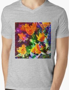 Vintage Country Garden Mens V-Neck T-Shirt