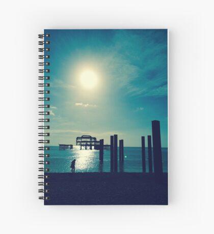 A Walk At West Pier Spiral Notebook