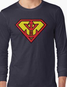 Superman vs Royal Saiyan Symbol Long Sleeve T-Shirt