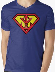 Superman vs Royal Saiyan Symbol Mens V-Neck T-Shirt