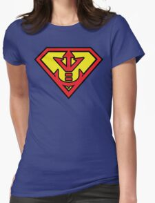 Superman vs Royal Saiyan Symbol Womens Fitted T-Shirt