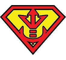 Superman vs Royal Saiyan Symbol Photographic Print