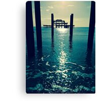 Waters Edge At West Pier Canvas Print
