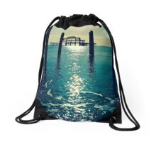 Waters Edge At West Pier Drawstring Bag