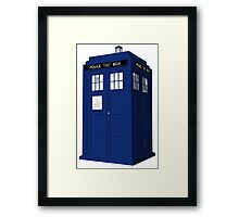 The Tardis - Doctor Who  Framed Print