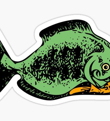 Fond a' Piranha  Sticker