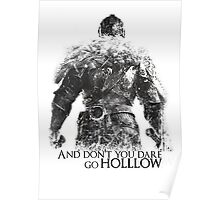 Don't Dare go Hollow - White Poster