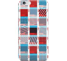 Halftone Moiré - Red & Blue iPhone Case/Skin