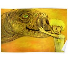 have you hugged your dinosaur today? Poster