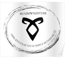 Shadowhunters looking better in black Poster