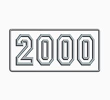2000, millennium, BIRTH DATE,  Number Plate, Year, Birthday, Commemorate, Anniversary, One Piece - Short Sleeve