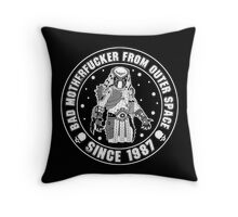 Bad Mofo from Outer Space Throw Pillow