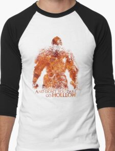 Don't Dare go Hollow - Flame Men's Baseball ¾ T-Shirt
