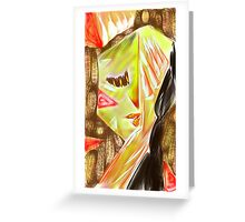 Hands on Face Greeting Card