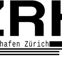 ZRH Zurich Airport Call Letters Print Sticker